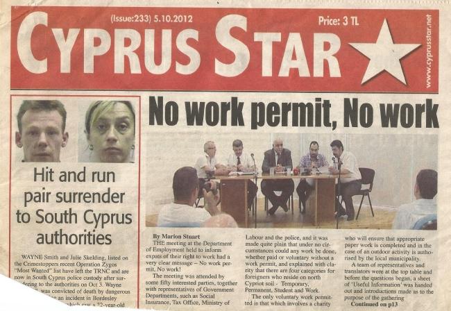 No work permit, No work