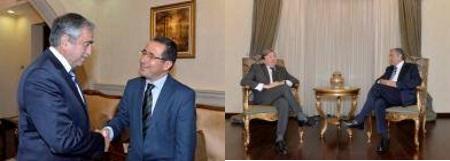 Akinci receives Michael Harari and A Claudio Acquarone