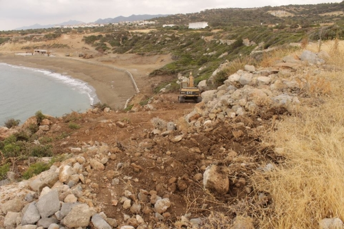 Starting the path or steps down to the beach. Esentepe Beach Project Update. 29 June 2015