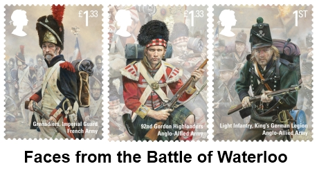Faces from the battle of Waterloo