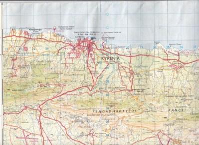 British MOD issue map 1988