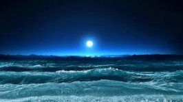 Ocean and Moon