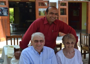 Terry and Inez Covell with Abbas