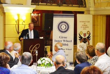 Ambassador Koenig giving his talk