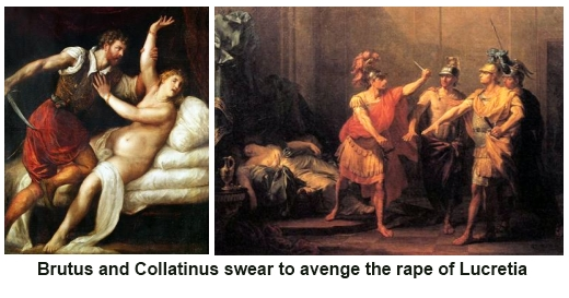 Brutus and Collatinus swear revenge