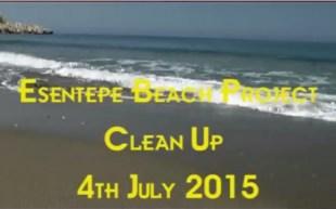 Esentepe Beach cleaning
