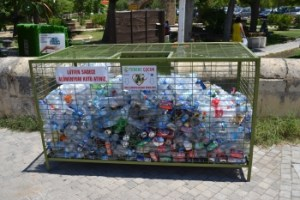 Girne Municipality  recycling collection point