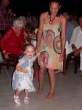 Look Mum ar'nt I a good dancer.