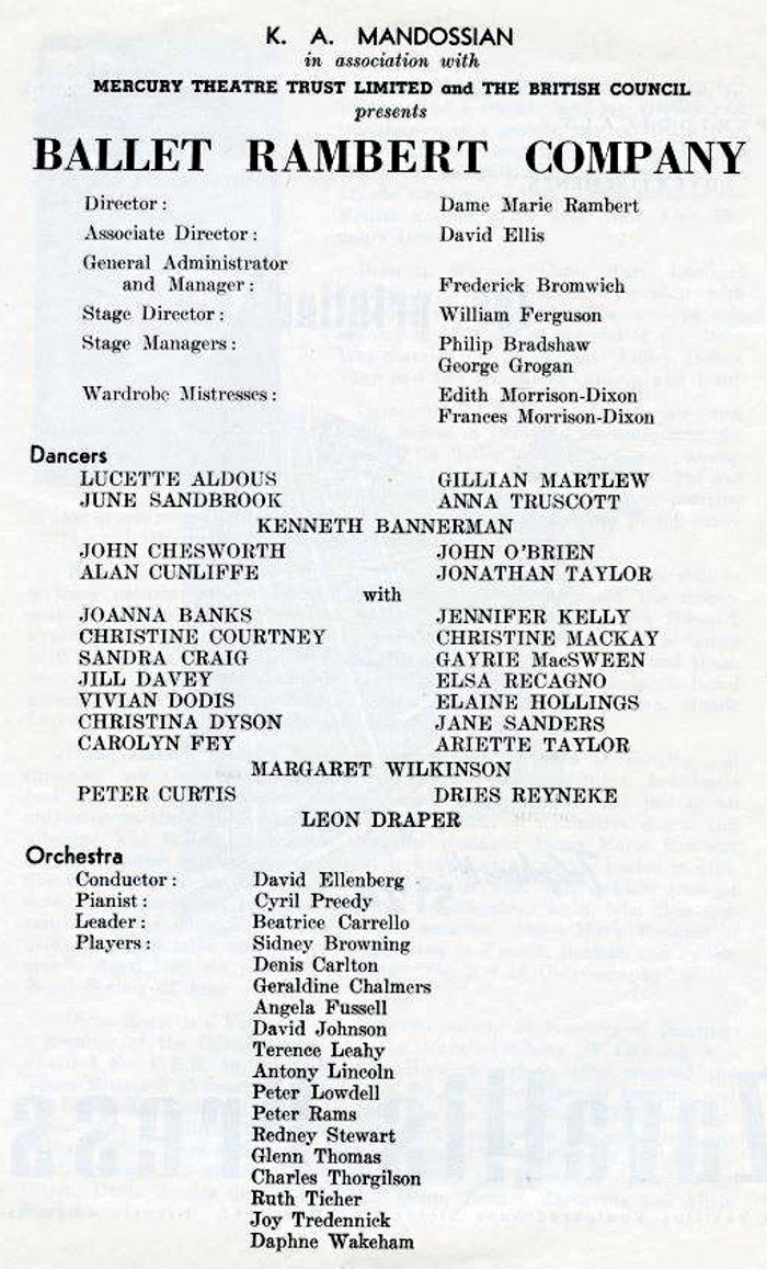 Programme from 1963