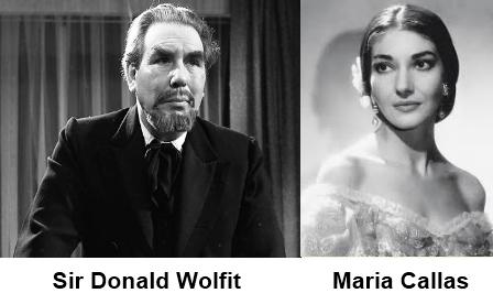Sir Donald Wollfit and Maria Callas