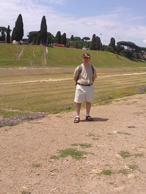 The original site Circus Maximus where the festival at which capture of the Sabine women were said to have taken place