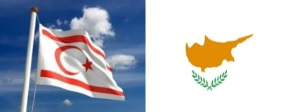 TRNC-Cyprus flags