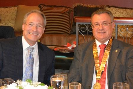 US Ambassador John Koenig and Kyrenia Liman Rotary Club President Hakki Muftuzade