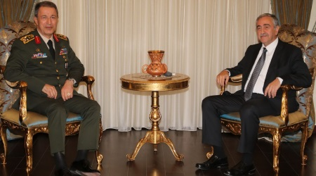 Turkey's Chief of General Staff Hulusi Akar and President Akinci