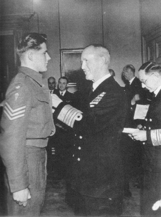 Hugo Munthe-Kass awarded the DSM by First Sea Lord Sir Andrew C