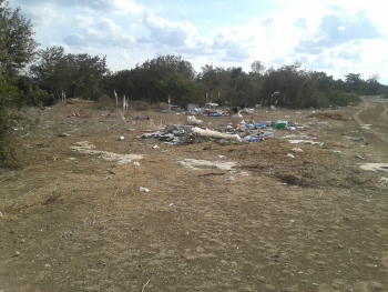 Kumyali Walk parking area before clearing