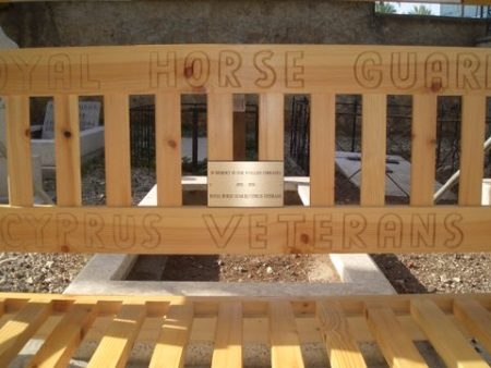 Bench in Old British Cemetery