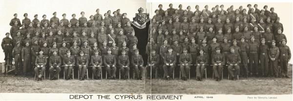 Depot The Cyprus Regiment April 1949