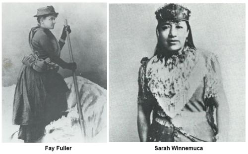 Fay Fuller and Sarah Winnemuca