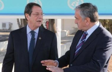 Nikos Anastasiades and Mustafa Akinci