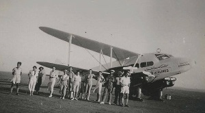 De Havilland Rapide probably taken at Larnaca Airfield in 1945 - photo courtesy of Mr. Theodore Djaferis,