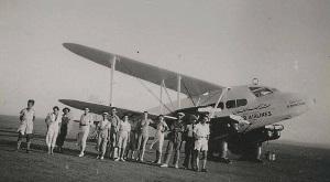 De Havilland Rapide probably taken at Larnaca Airfield in 1945 - photo courtesy of Mr. Theodore Djaferis,