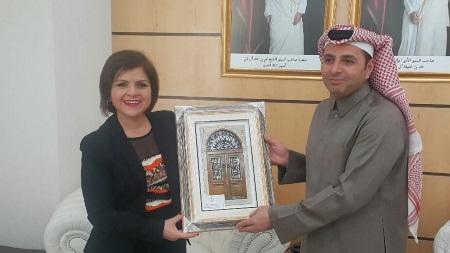 Emine Colak and Education Minister of Qatar Al Hammadi