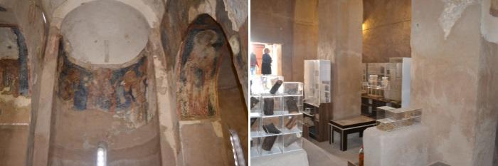 Frescoes and exhibits