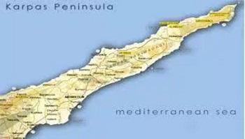 Karpaz Peninsula map