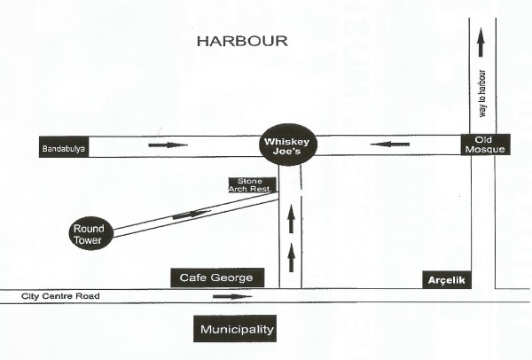 Directions to Whiskey Joe's