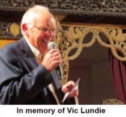 In memory of Vic lundie