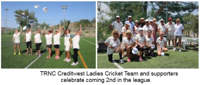 Celebration time for the Creditwest TRNC ladies 2nd place