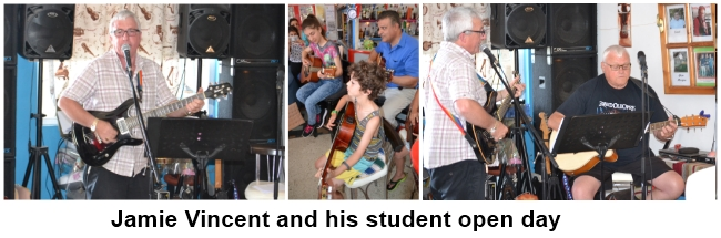 Jamie Vincent and his student open day