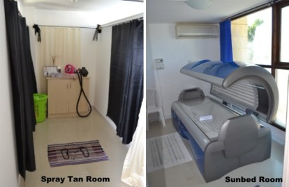 Spray Tan and Sunbed rooms