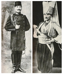 At military school and dressed as an Ottoman