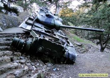 North Cyprus Mountain Memorial Tank Cyprusscene Com