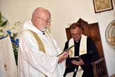 The Revd Michael Graham conducts the ceremony