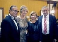 l-r Mehmet Mustafaoglu, Demetra George-Mustafaoglu, Meral Akinci, Mustafa Akinci