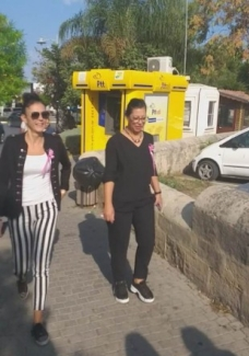 Girne Municipality employees walked in Breast Cancer awareness walk (1) 1