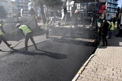 Girne Municipality Asphalt Surfacing Work Continues (4)