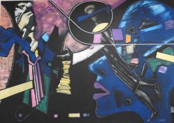 Exhibition of 86 artworks of Kazakh artists showing at NEU (3)