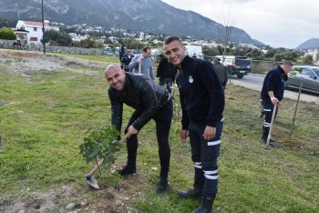 Girne Municipal employees planted seedlings 1 (3)