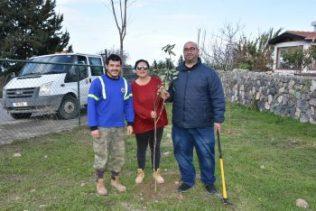 Girne Municipal employees planted seedlings 1 (5)