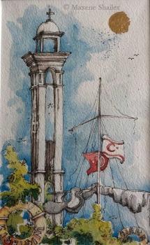 Girne harbour by Maxene Shailer