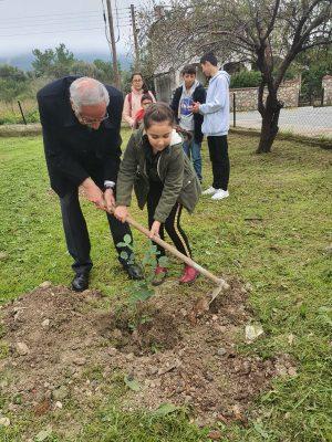 Girne Childrens Assembly sapling planting (10)