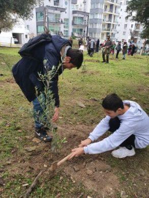 Girne Childrens Assembly sapling planting (3)