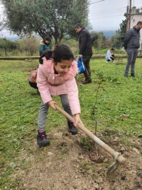 Girne Childrens Assembly sapling planting (6)