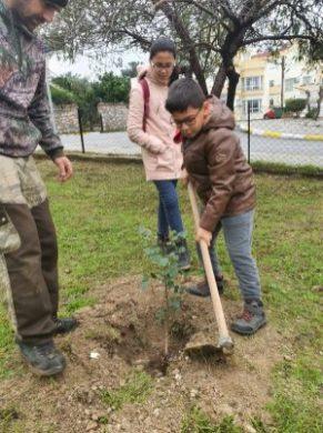 Girne Childrens Assembly sapling planting (7)
