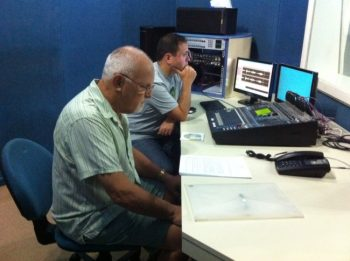 3 Tony Woods in the control room with Can recording Dirty Business for KADS