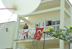 April 23 Music enjoyed by Girne residents from their Balconies (15)